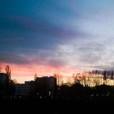 Sundown in Karlsruhe