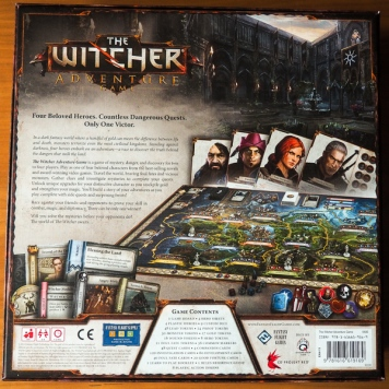 The Witcher Adventure Game Box Backside