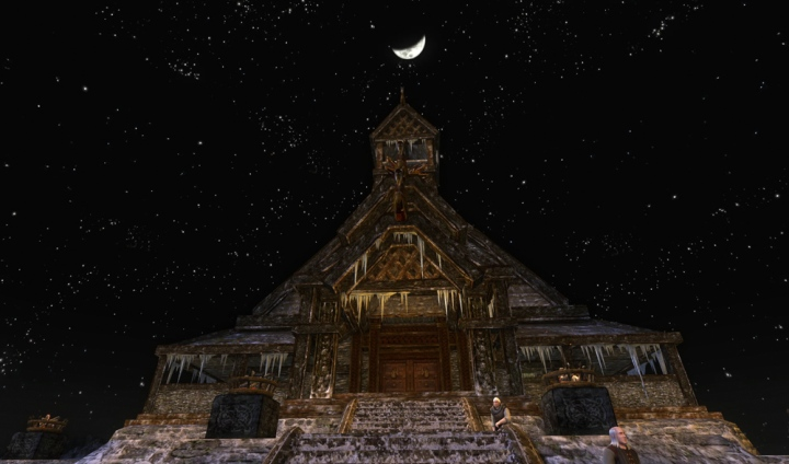 The moon over the mead hall