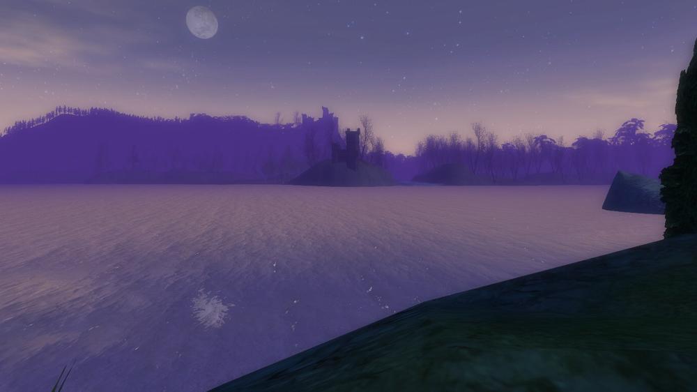 Moon over Anduin and Mirkwood