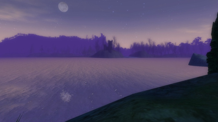 Moon over Anduin and Mirkwood
