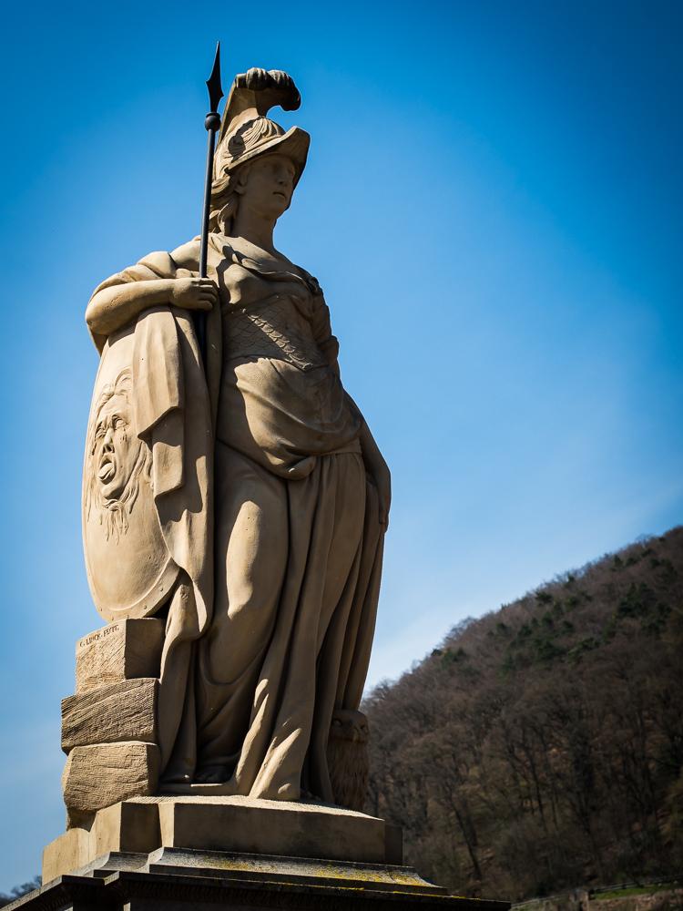 Statue of Minerva at Alte Brücke, Heidelberg