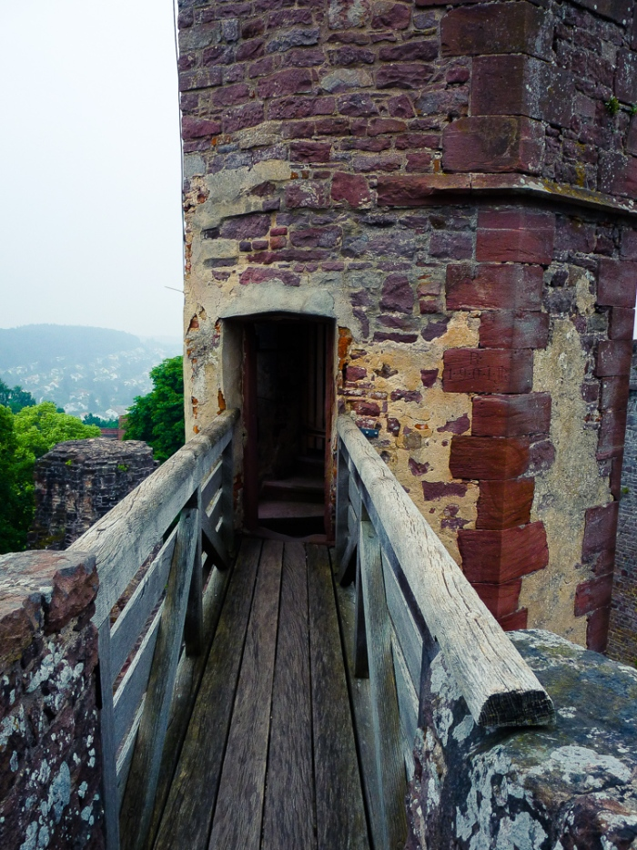 A doorway to a a tower in the Dislberg castle