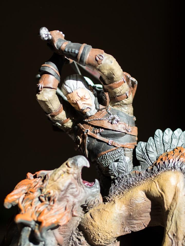 Geralt statue