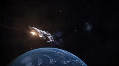 Near a terrestrial planet